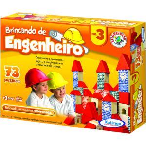 Blocos Xalingo Brincando de Engenheiro N°3, 73 Peças - R$15