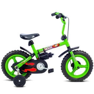 Bicicleta Infantil Aro 12 Verden Rock - Verde e Preta - R$120