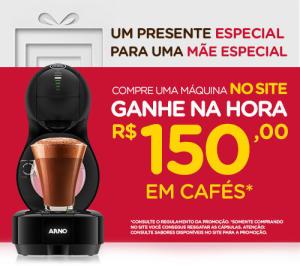 Compre uma máquina e ganhe R$150 em cafés na Nescafé Dolce Gusto