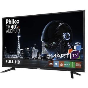 "Smart TV LED Android 40"" Philco PTV40E20DSGWA Full HD  por R$ 1200"