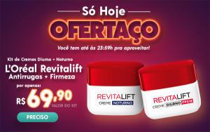Kit Creme L'Oréal Revitalift Antirrugas + Firmeza Noturno + Diurno - R$69,90