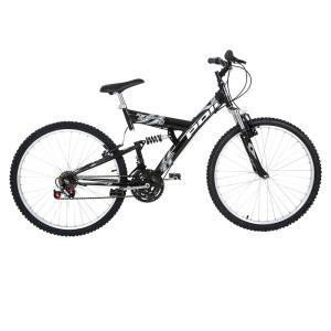 Bicicleta Aro 26 Polimet Kanguru com Suspensão Dupla e 18 Marchas - R$449
