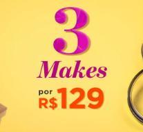 3 makes por R$129