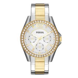 Relógio Feminino Analógico Fossil ES3204/5BN – Prata/Dourado - R$441
