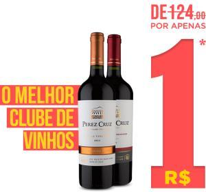 Compre 2 garrafas de Vinho por apenas R$ 1