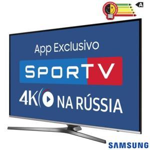 "Smart TV 4K Samsung LED 49"" com HDR Premium, One Control e Wi-Fi - UN49KU6450GXZD - R$ 2399"
