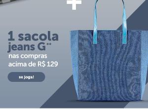 Leve uma sacola tamanho G em compras acima de R$129