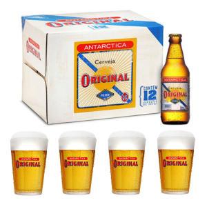 Comprando 12 Cervejas Original 300ml GANHE 4 Copos por R$ 43