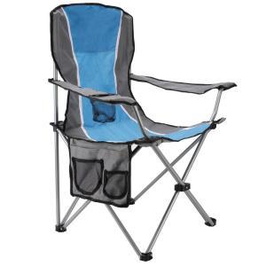 Cadeira Dobrável Importada em Tecido - Azul por R$ 37