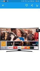 "Smart tv led 49"" 4k tela curva Samsung"