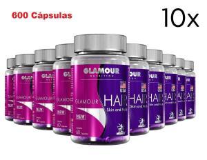 Kit Vitaminas - Cabelo, Pele e Unhas 600 Cáps Glamour Midway - R$99