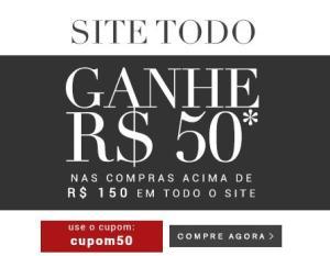 R$ 50 OFF em compras acima de R$ 150 em todo o site da Camicado