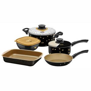 Conjunto de Panelas Tramontina My Lovely Kitchen com Revestimento Antiaderente – 5 Peças por R$ 270