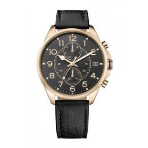 Relógio tommy hilfiger masculino couro marrom - 1791273 - R$552