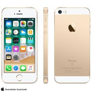 """iPhone SE Dourado, com Tela de 4"""", 4G, 32 GB e Câmera de 12 MP"""