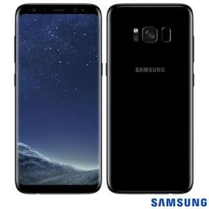 """Samsung Galaxy S8 Preto, com Tela de 5,8"""", 4G, 64 GB e Câmera de 12 MP - SM-G950 - SGG950PTO - R$2399"""