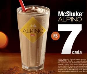 McShake Alpino do McDonald's - R$7