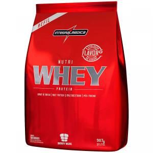 Whey Protein Integralmédica Nutri Whey Protein - Morango - Refil 907g - R$ 40