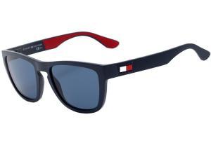 Óculos de Sol Tommy Hilfiger TH 1557 S - Azul fosco/azul - Lente 5,4 cm - R$215