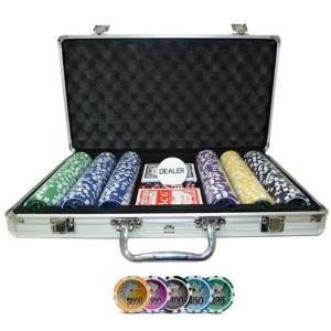 Maleta de Poker Grand Royale Oficial - 300 fichas numeradas 11,5 gramas - 2 deck - Dealer - R$118