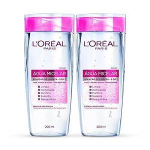Kit com 2 Água Micelar L'Oréal Paris 200 ml - R$35,80