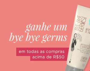 Leve um bye bye germs em compras acima de R$50 na The Beauty Box