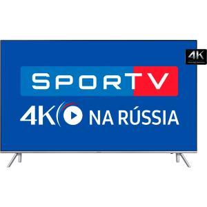 """Smart TV LED 55"""" Samsung 4K Ultra HD 55MU7000 - Conversor Digital Wi-Fi 4 HDMI 3 USB - R$3799"""