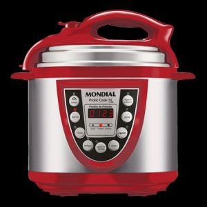 Panela Elétrica de Pressão Pratic Cook 5L Vermelha Mondial