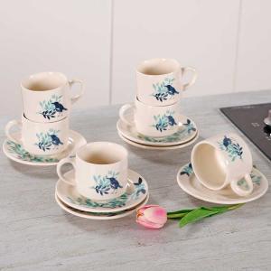 Conjunto de Chá em Cerâmica Blue Bird 12 Peças Biona - R$57