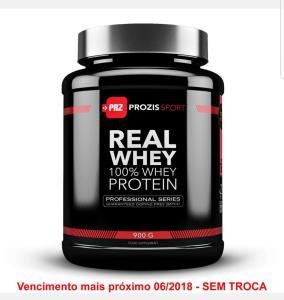 3 unidades de Whey Protein Real Professional 900g - Prozis Sport de morango - R$99