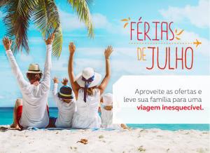 Trechos domésticos para o mês de julho a partir de R$118