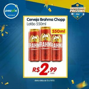 Cerveja Brahma 550 ml por R$ 2,99