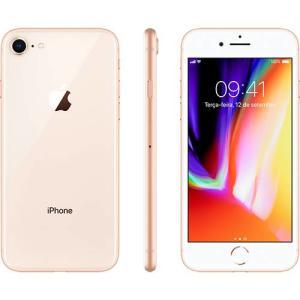 """iPhone 8 Dourado 64GB Tela 4.7"""" IOS 11 4G Wi-Fi Câmera 12MP - Apple por R$ 3059"""