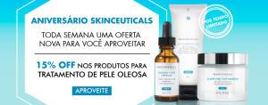 15% OFF em produtos para pele oleosa SkinCeuticals