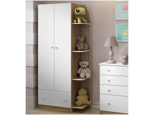 Guarda-Roupa para Bebê 2 Portas 1 Gaveta - Multimóveis Confete 2457866 - R$300