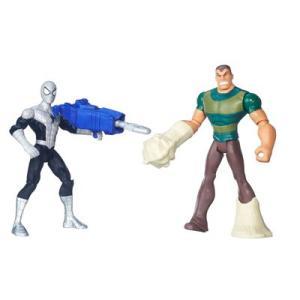 Pack 2 Figuras 15cm - Ultimate Spider-Man - Homem Aranha com Armadura Vs Sandman - Hasbro - Disney - R$59,99