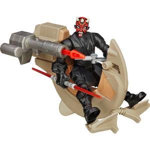 Boneco Articulado e Veículo - Star Wars - Hero Mashers - Sith Speeder e Darth Maul - Hasbro - Disney  - R$49,90