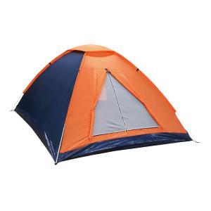 Barraca de Camping Panda para 4 Pessoas NTK - Laranja/Azul - R$89,90