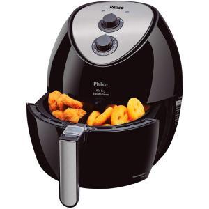 Fritadeira Philco Air Fry Saúde Inox 3 Litros Preto - R$220