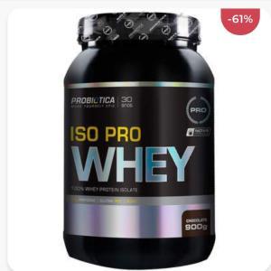 Whey Protein Isolado Probiótica Iso Pro Whey - Chocolate - 900g  R$98