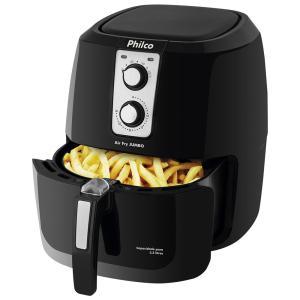 Fritadeira sem Óleo Philco Air Fry Jumbo 5,2 litros - Preta - R$288