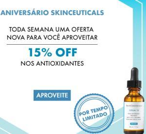 15% OFF em antioxidantes SkinCeuticals