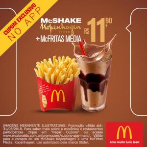 McShake Kopenhagen + McFritas Média no McDonald's - R$11,90