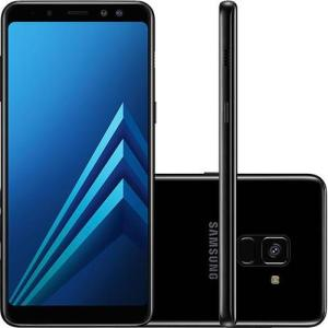 "[Sicoob Card] Smartphone Samsung Galaxy A8 Dual Chip Android 7.1 Tela 5.6"" Octa-Core 2.2GHz 64GB 4G Câmera 16MP - PretoR$ 1.079,10"