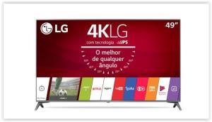 "Smart TV LED 49"" LG Ultra HD 4K Sistema WebOS 3.5 Magic Mobile Connection Wi-Fi  49UJ6565 por R$ 2208"
