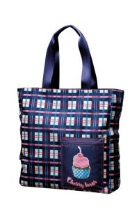 Bolsa Tote Bag - Cupcake Xadrez Square - R$30