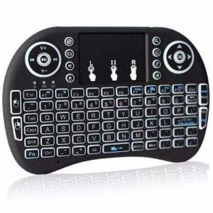 Mini Teclado Iluminado Touchpad Sem Fio Pc Ps3 Xbox Tv Box - R$30