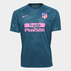 Camisa Atlético de Madrid Third 17/18 s/n° - Torcedor Nike Masculina - Azul e Pink - R$ 153
