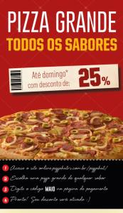 25% de Desconto na Pizza Grande - PIZZA HUT
