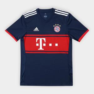 Camisa Bayern de Munique Away 17/18 s/nº - Torcedor Adidas Masculina - Marinho - R$135